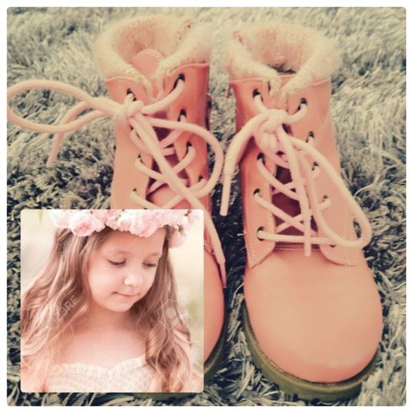 Kids Lil Girls Target Boots Sz